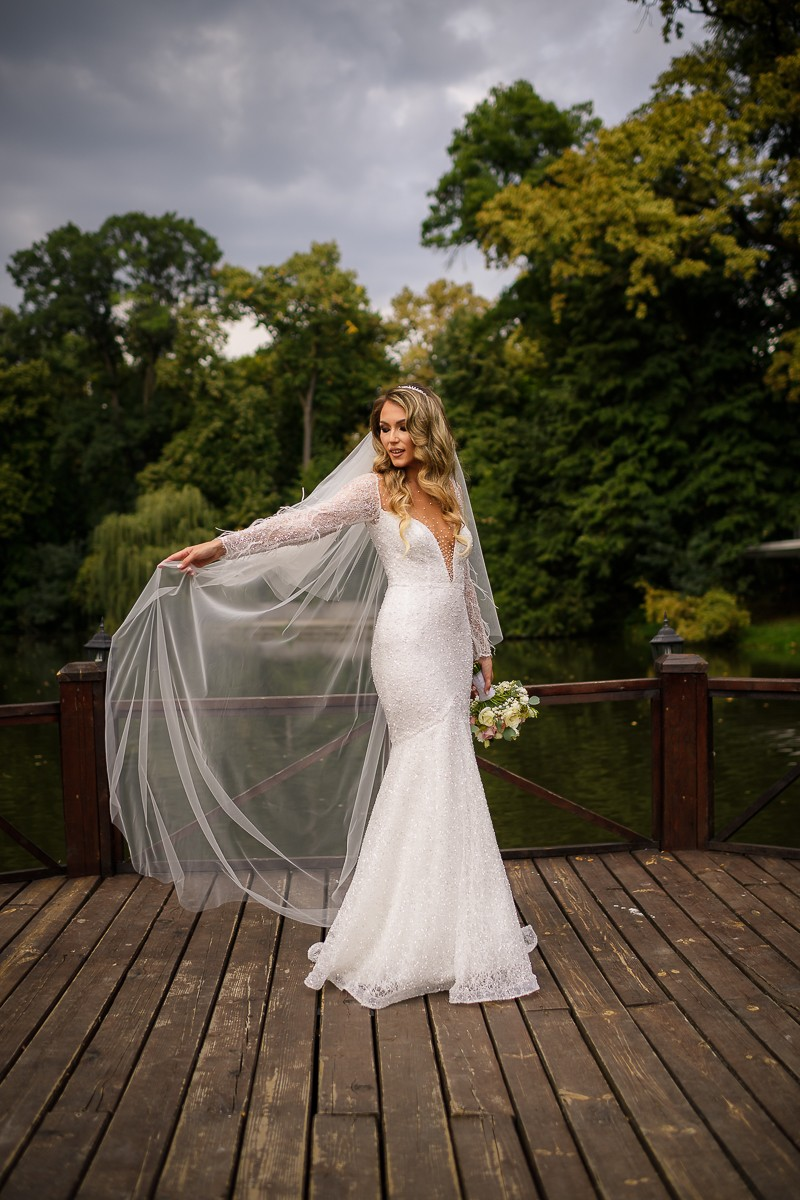 Mireasa in ziua nuntii la domeniul Stirbey