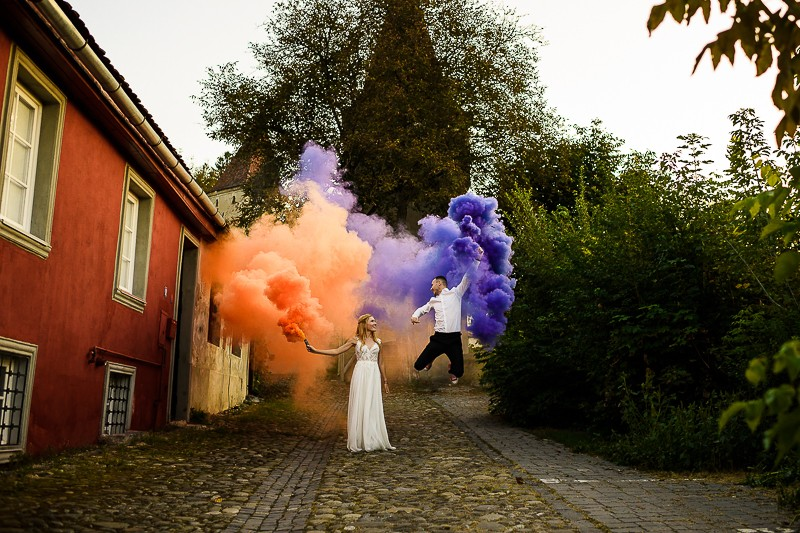 Trash the dress la Sighisoara