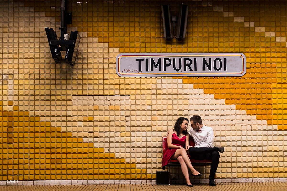 sedinta foto la metrou cununie Cristi si Andreea