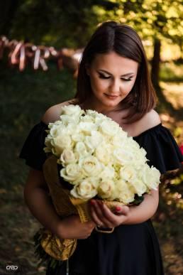 cerere in casatorie trandafiri albi