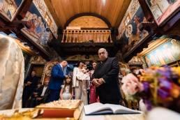 Fotograf botez biserica de lemn Poiana Brasov