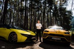 Calin Donca Lamborghini Urus si BMW I8