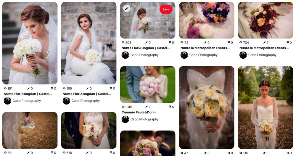 Mood Board Pinterest Sfaturi pentru fotografia de nunta pentru mireasa
