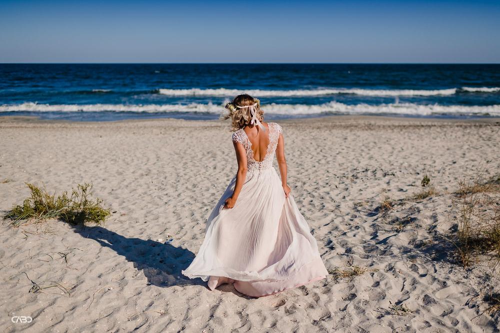 rochie de mireasa pe plaja