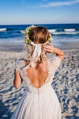 coronita de flori mireasa la mare